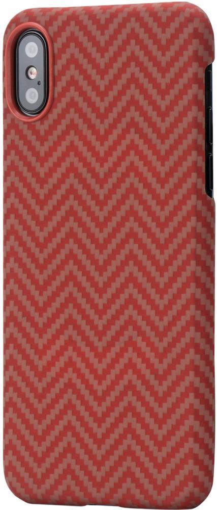Клип-кейс Pitaka для Apple iPhone X (красно-оранжевый)