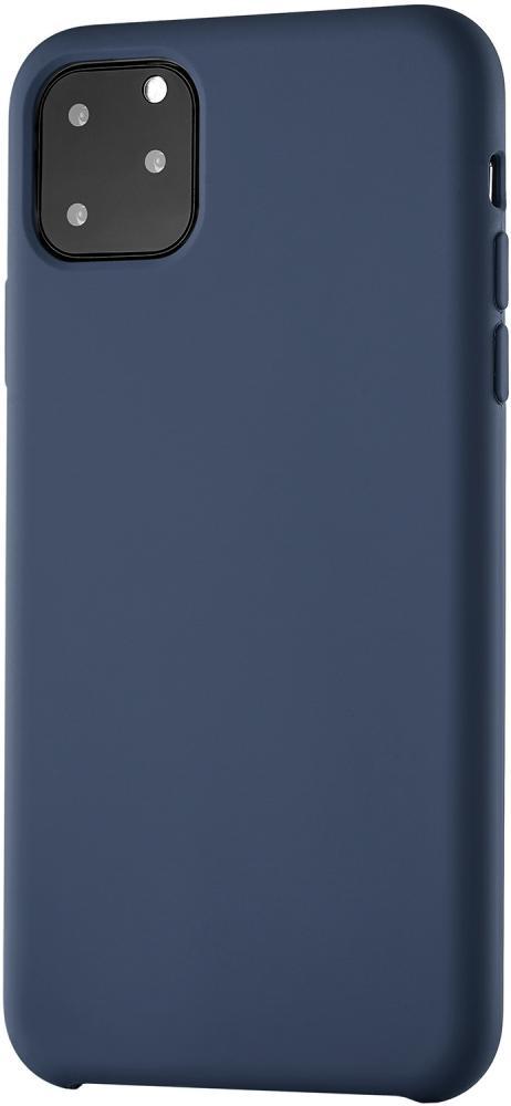 Клип-кейс uBear Siliconesoft touch дляApple iPhone 11 Pro Max (синий)