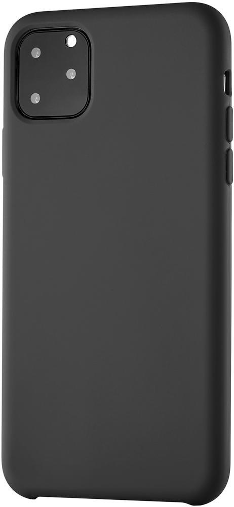 Клип-кейс uBear Siliconesoft touch дляApple iPhone 11 Pro Max (черный)