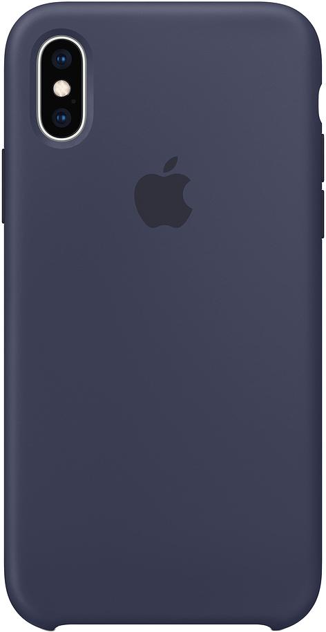 Клип-кейс Apple Silicone для iPhone XS Max (темно-синий)