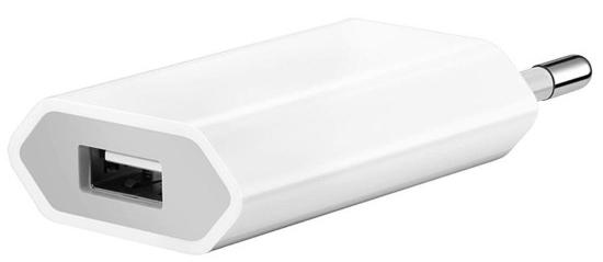 Сетевое зарядное устройство Apple USB мощностью 5 Вт (белый)