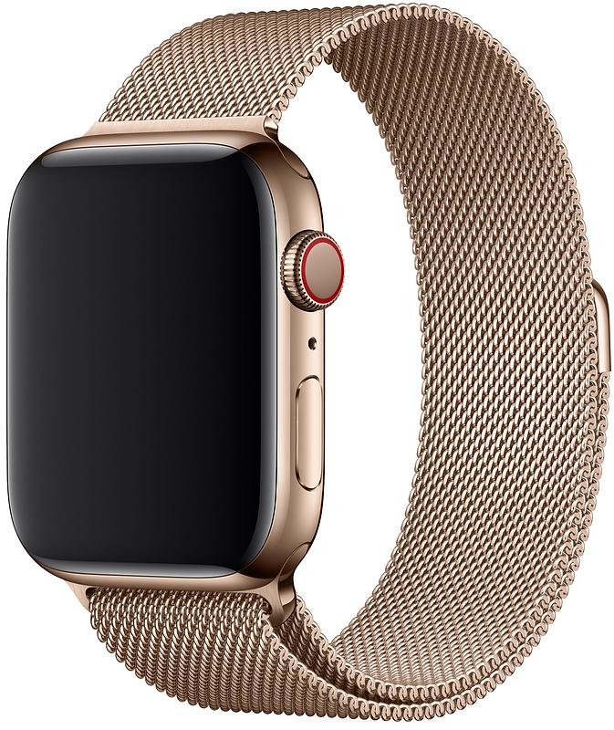 Ремешок Apple Milanese Loop для Watch 44 мм (золотой)