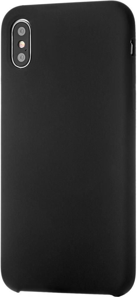 Клип-кейс uBear Silicone soft touch для Apple iPhone X (черный)