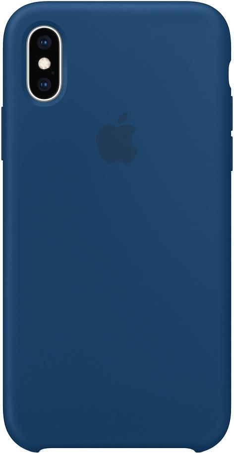 Клип-кейс Apple Silicone для iPhone XS (морской горизонт)
