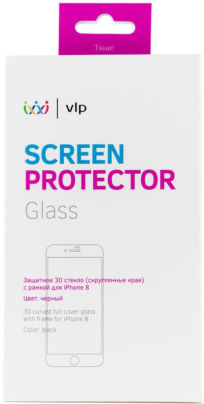 Защитное стекло VLP 3D для Apple iPhone 8 черная рамка