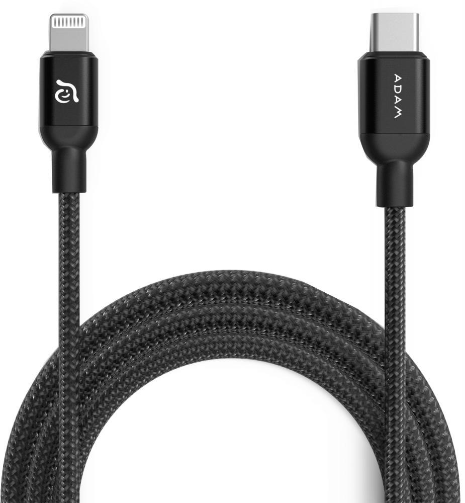 Кабель ADAM Elements USB-C - Lightning 1.2м (черный)