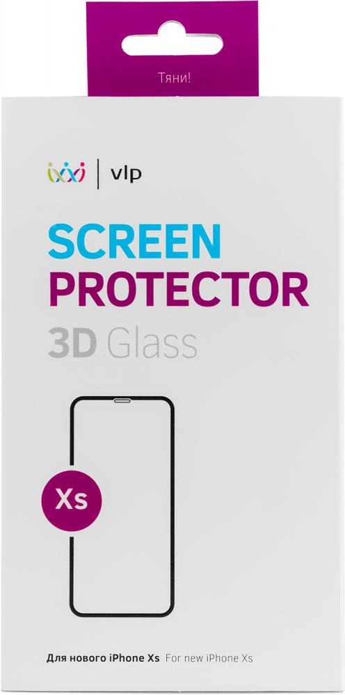Защитное стекло VLP 3D для Apple iPhone XS черная рамка