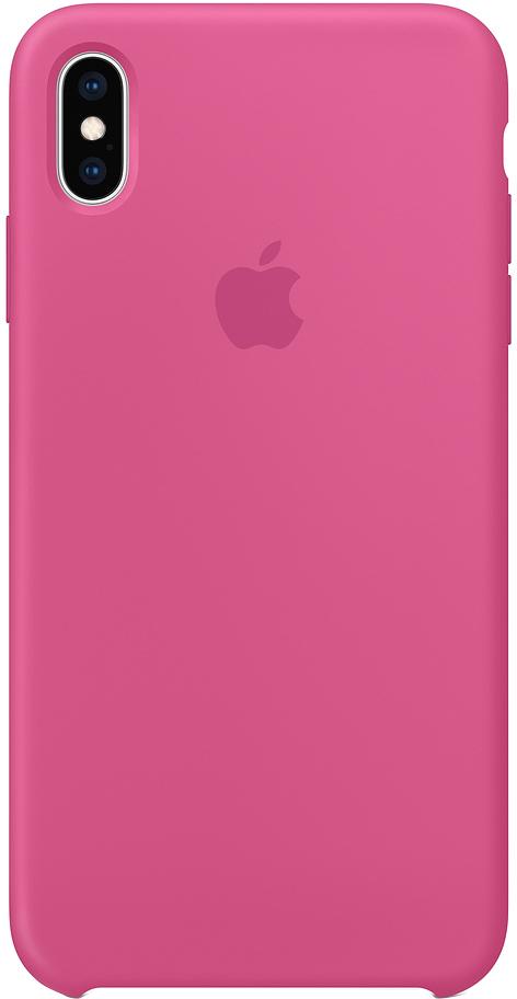 Клип-кейс Apple Silicone для iPhone XS Max (темная фуксия)