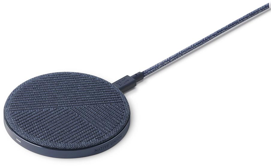 Фото - Беспроводное зарядное устройство Native Union DROP 10W (синий) беспроводное зарядное устройство rivacase va4914 wd1 белое 10w сзу
