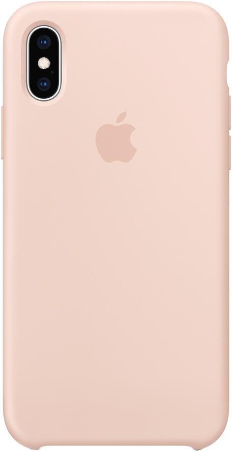 Клип-кейс Apple Silicone для iPhone XS Max (розовый песок)