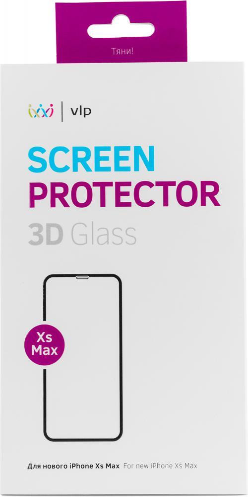 Защитное стекло VLP 3D для Apple iPhone XS Max черная рамка