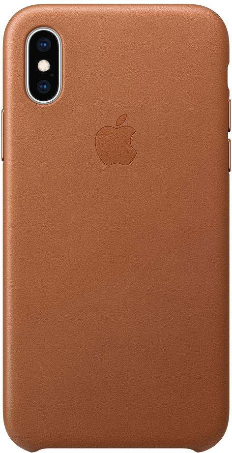 Клип-кейс Apple Leather для iPhone XS (золотисто-коричневый)