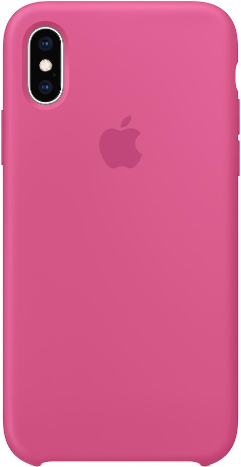 Клип-кейс Apple Silicone для iPhone XS (темная фуксия)
