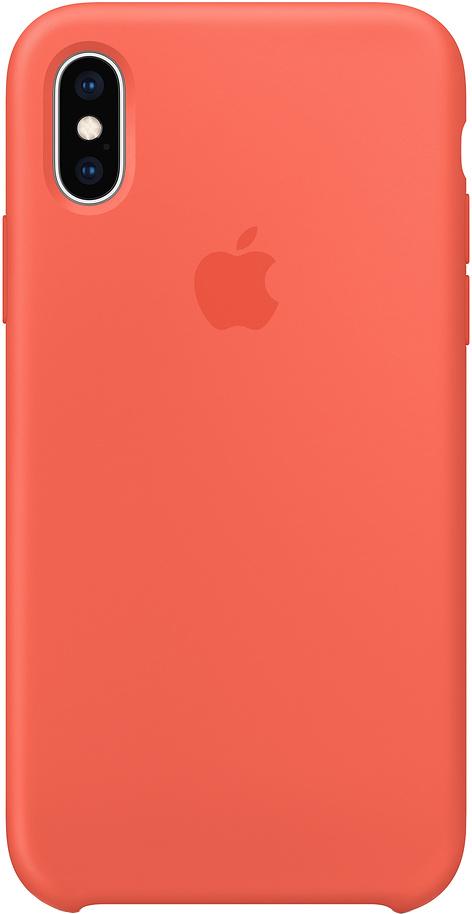 Клип-кейс Apple Silicone для iPhone XS Max (спелый нектарин)