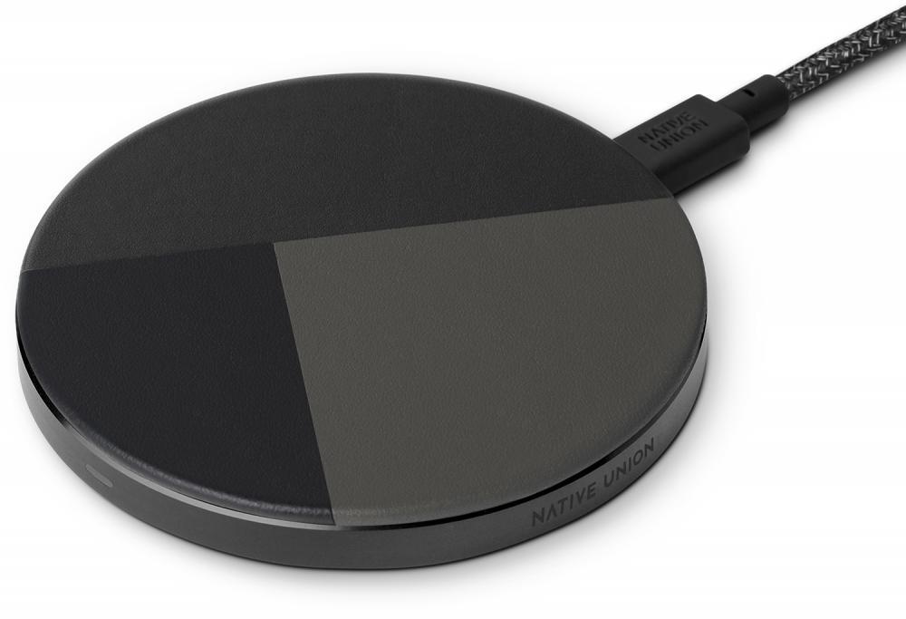 Фото - Беспроводное зарядное устройство Native Union Drop Marquetry 10W (темно-серый) беспроводное зарядное устройство rivacase va4913 wd1 белое 10w