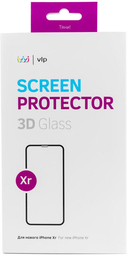 Защитное стекло VLP 3D для Apple iPhone XR черная рамка