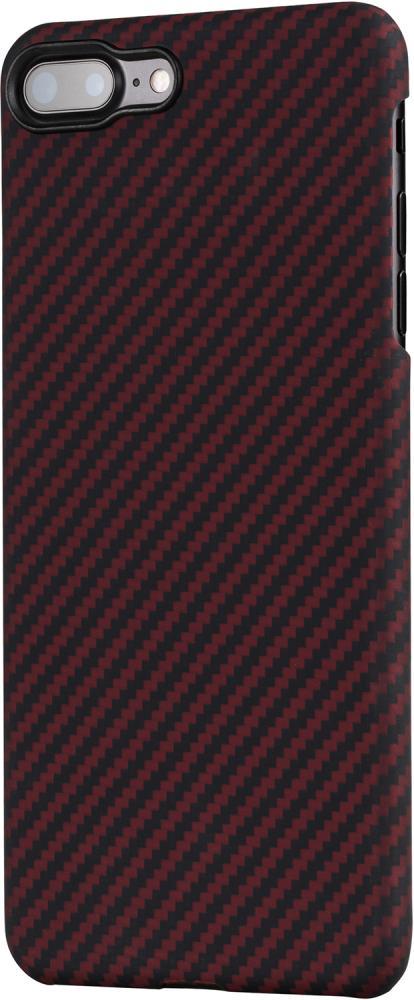 Клип-кейс Pitaka для Apple iPhone 8/7 Plus карбон (красно-черный)