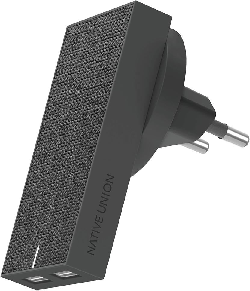 Сетевое зарядное устройство Native Union Smart IC 2 USB 3.1A (серый)