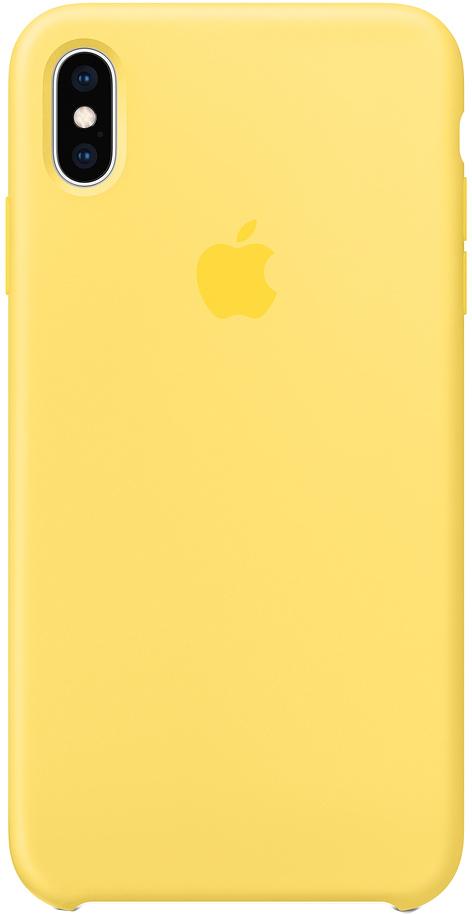 Клип-кейс Apple Silicone для iPhone XS Max (канареечный)