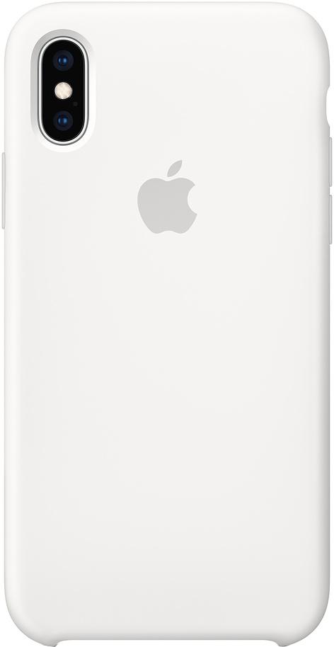 Клип-кейс Apple Silicone для iPhone XS (белый)