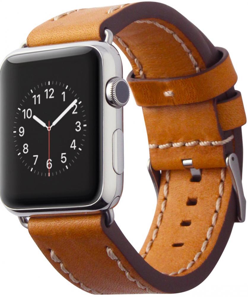 Ремешок Cozistyle Leather Band CLB018 для Apple Watch 42 мм (светло-коричневый)