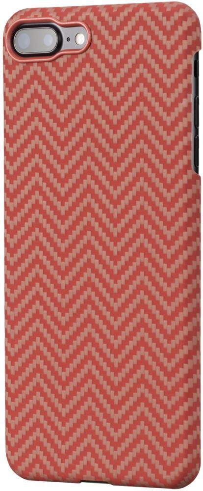 Клип-кейс Pitaka для Apple iPhone 8/7 Plus (красно-оранжевый)