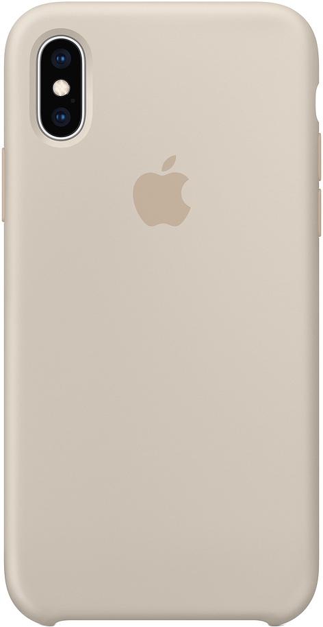 Клип-кейс Apple Silicone для iPhone XS Max (бежевый)