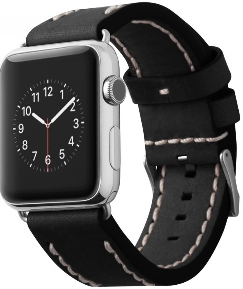 Ремешок Cozistyle Leather Band CLB010 для Apple Watch 42 мм (черный)