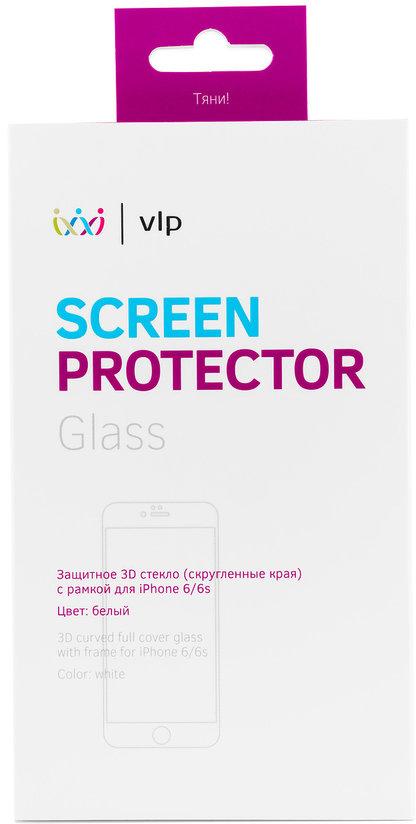 Защитное стекло VLP 3D для iPhone 6/6S белая рамка