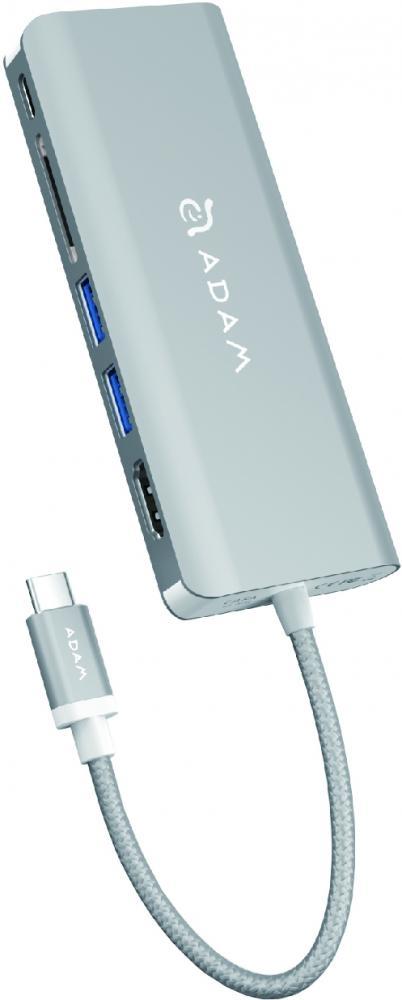 USB концентратор ADAM Elements CASA Ao1 Type C (серебристый)