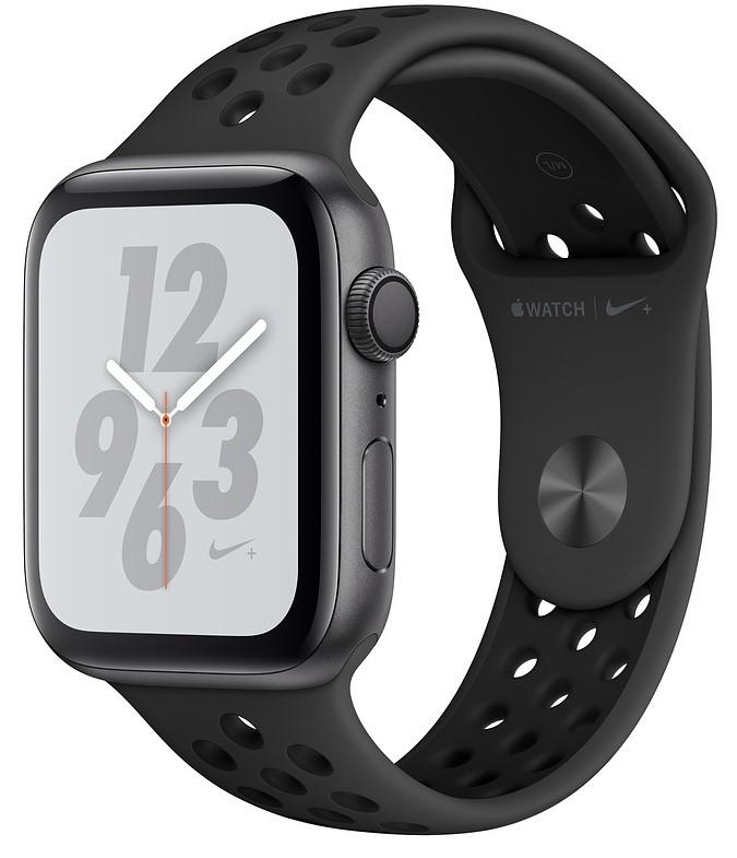 Умные часы Apple Watch Nike+ Series 4 40 мм, корпус из алюминия цвета серый космос, спортивный ремешок Nike антрацитовый/черный