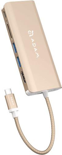 USB концентратор ADAM Elements CASA Ao1 Type C (золотой)