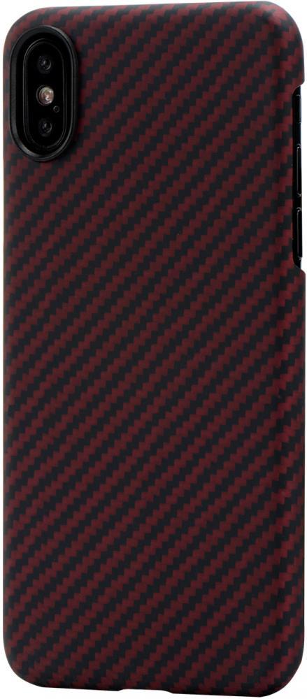 Клип-кейс Pitaka для Apple iPhone X (красно-черный)