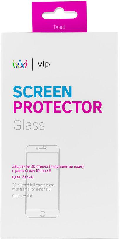 Защитное стекло VLP 3D для Apple iPhone 8 белая рамка