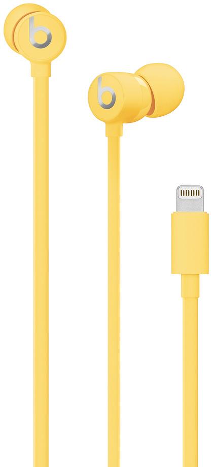 Наушники Beats urBeats3 Lightning (желтый)