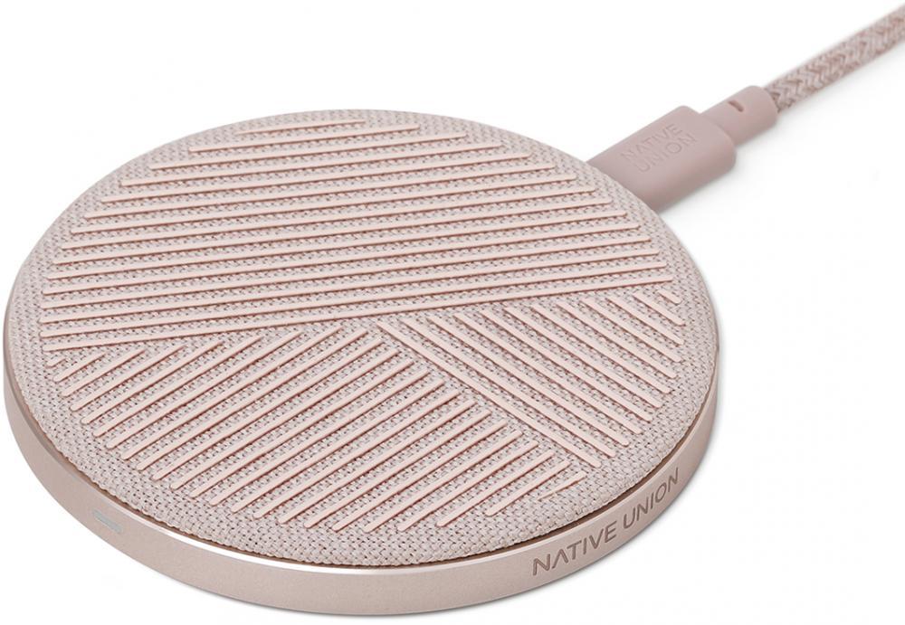Фото - Беспроводное зарядное устройство Native Union DROP 10W (розовый) беспроводное зарядное устройство rivacase va4914 wd1 белое 10w сзу