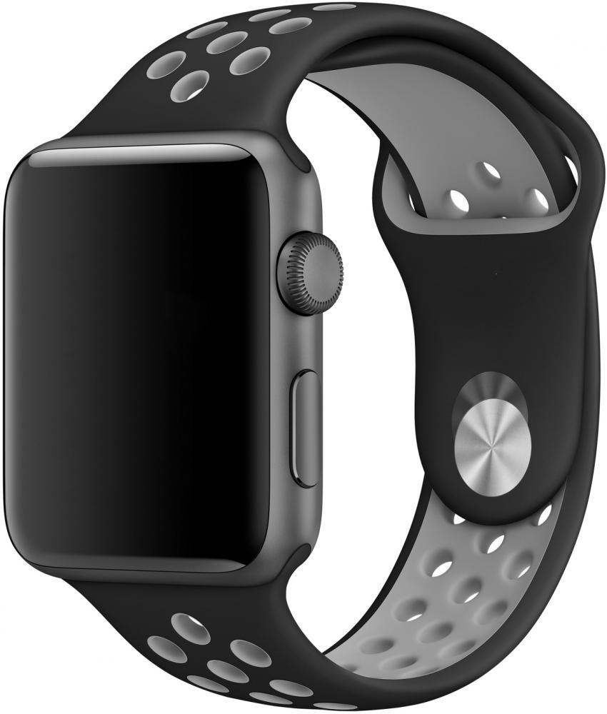 Браслет Браслет Wolt для Apple Watch 42/44 мм (черно-серый)