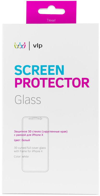 Защитное стекло VLP 3D для Apple iPhone X белая рамка