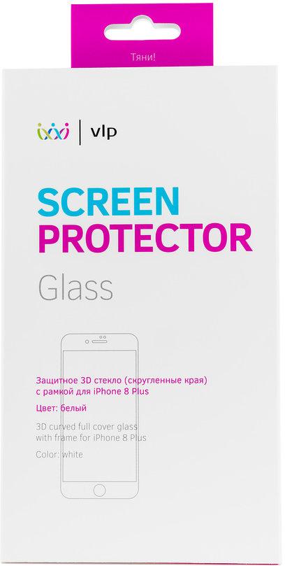 Защитное стекло VLP 3D для Apple iPhone 8 Plus белая рамка