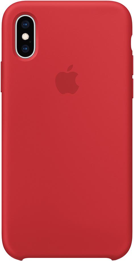 Клип-кейс Apple Silicone для iPhone XS Max (красный)